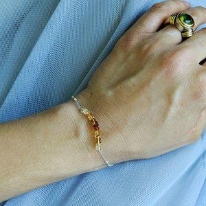 Jewelry - Ombre Citrine Sterling Silver Bracelet